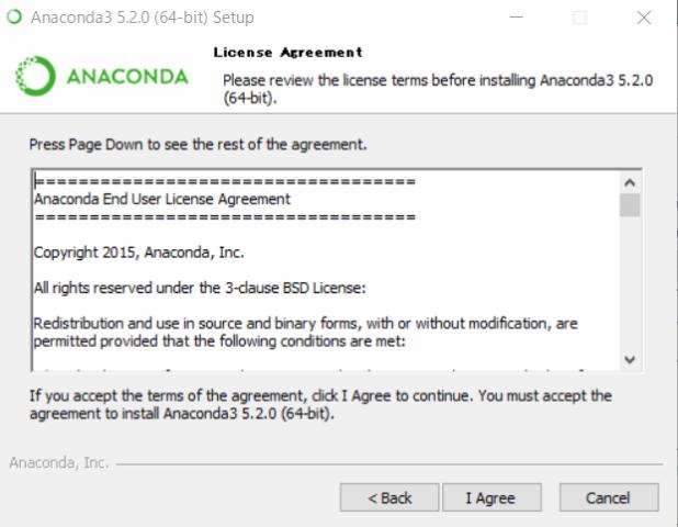 『 windowsでpython環境構築-anakonda 』 ..同意を選択して次に進みます。..
