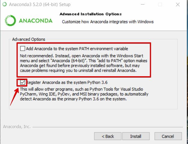 『 windowsでpython環境構築-anakonda 』 ..そのようなことがあったので、むしろインストール先の変更はしない方がいいのではないでしょうか?。..