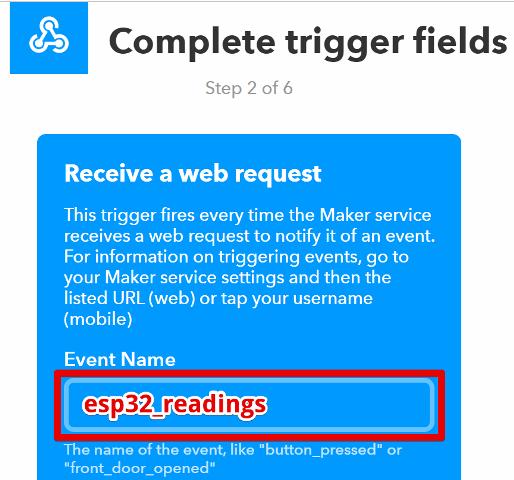 『 【完全図解】ifttt使い方とgoogle_sheetの連携 』 ..カズはesp32_readingsと付けました。名前は自由につけることが出来ますが、次の『then that』で作成されたフィールドの名称と一致させる必要があります。..