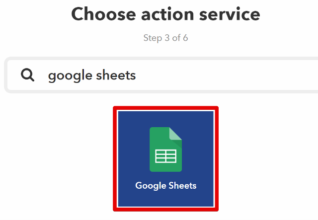 『 【完全図解】ifttt使い方とgoogle_sheetの連携 』 ..「Google Sheets」アイコンを選択します。..