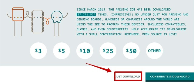 『 arduino IDEをインストールしてesp32を使ってみる 』 ..arduino IDE(開発環境)は非営利団体ですので寄付を受けてけています。寄付をしてインストールする場合には右を、インストールをするには左を選択します。..